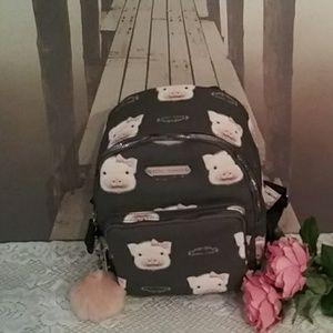 Betsey Johnson Piggy Backpack NWT
